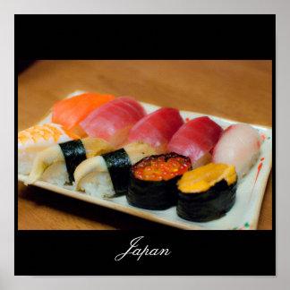 日本ポスターの寿司 プリント