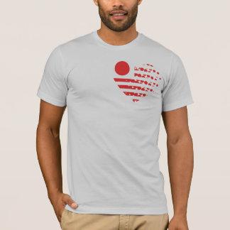 日本レリーフ、浮き彫りのワイシャツ Tシャツ