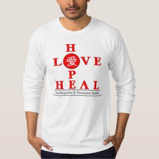 日本レリーフ、浮き彫り-愛希望は直ります Tシャツ
