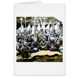 日本ヴィンテージのVilageの北の生命のアイヌ語の人々 カード