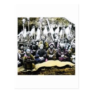 日本ヴィンテージのVilageの北の生命のアイヌ語の人々 ポストカード