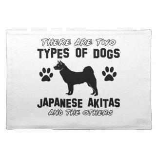 日本人の秋田犬のデザイン ランチョンマット