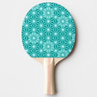 日本人のAsanohaパターン-ターコイズ 卓球ラケット