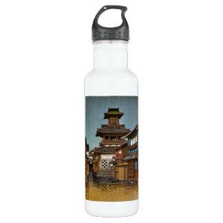 日本人のHasuクールな東洋のKawaseの雨の村 ウォーターボトル