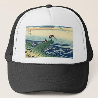 日本人のHokusai富士の眺めの景色 キャップ