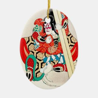 日本人のKagekiyoの涼しい東洋の入れ墨 セラミックオーナメント