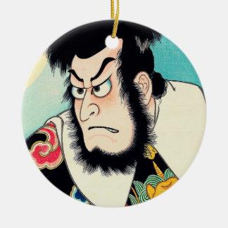 日本人のKezori涼しい東洋のKyuemonの入れ墨 セラミックオーナメント
