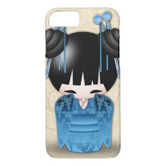 日本人のKokeshiのかわいい人形 iPhone 8/7ケース