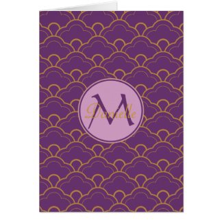 日本人のSeigaihaの帆立貝の紫色の金ゴールドのピンク東洋 カード
