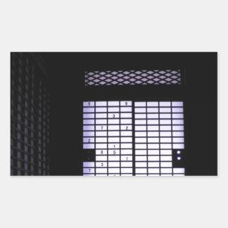 日本人のSudokuのペーパー窓 長方形シール