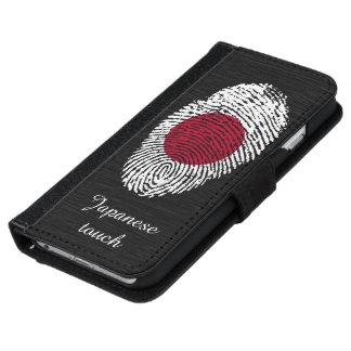 日本人のtouchの指紋の旗 iPhone 6/6s ウォレットケース
