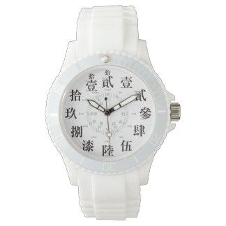 日本困難で古い漢字のスタイル[白い顔] 腕時計