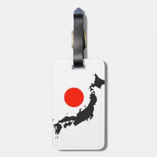 日本地図の輪郭および円 ラゲッジタグ