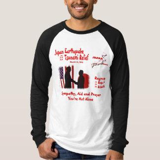 日本地震の津波のレリーフ、浮き彫り-米国のデザイン Tシャツ