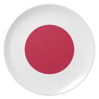 日本旗のプレート プレート