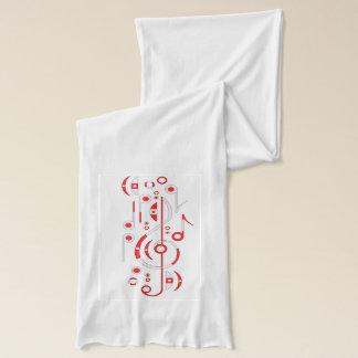 日本旗の音符のスカーフ スカーフ