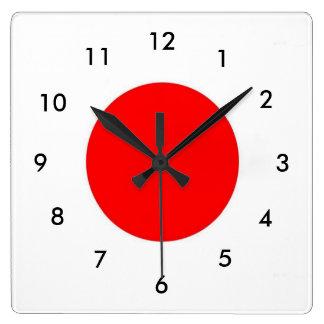 日本旗 スクエア壁時計
