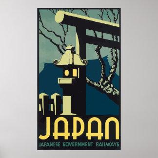 日本日本のな政府の鉄道、ヴィンテージ ポスター