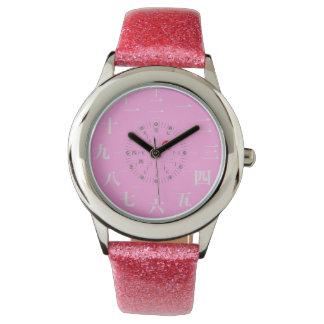 日本漢字のスタイル[ピンクの顔] 腕時計