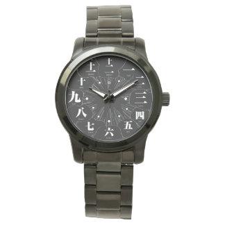 日本漢字のマンガのスタイル[太字4] 腕時計