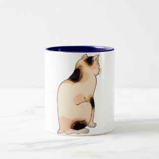日本猫、国芳の日本のな猫、Kuniyoshi、Ukiyo-e ツートーンマグカップ