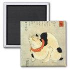 日本猫、国芳の日本のな猫、Kuniyoshi、Ukiyo-e マグネット