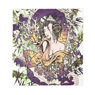 日本芸者のドラゴン ノートパッド