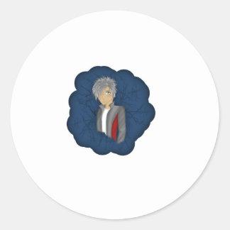 日本製アニメのキャラクター- Flynn ラウンドシール