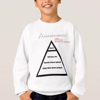 日本製アニメのピラミッド スウェットシャツ