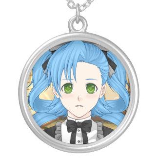 日本製アニメの具象のネックレス シルバープレートネックレス