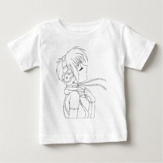 日本製アニメの女の子 ベビーTシャツ