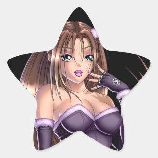 日本製アニメの女の子- Nikki 星シール