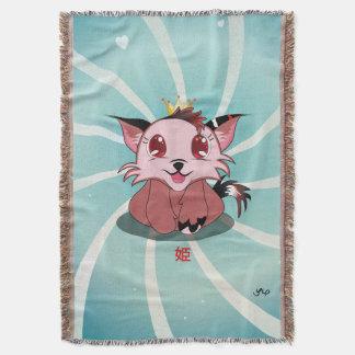 日本製アニメの子猫- Himeのブランケット スローブランケット