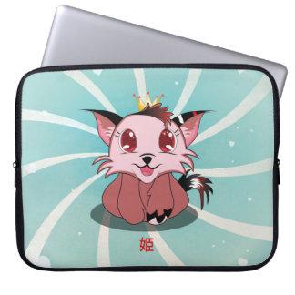 日本製アニメの子猫- Himeのラップトップスリーブ ラップトップスリーブ