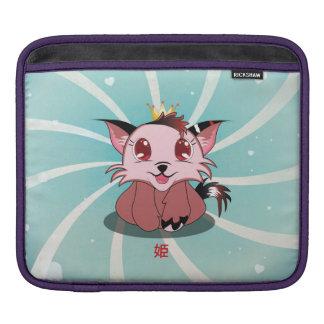 日本製アニメの子猫- Himeの人力車の袖 iPadスリーブ