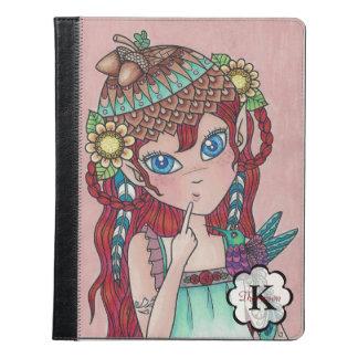 日本製アニメの木製の小妖精や小人の落書きの女の子Personalizable iPadケース