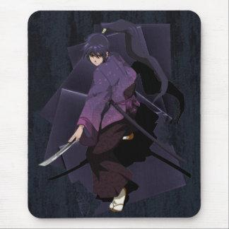 日本製アニメの武士-すみれ色の黒檀 マウスパッド
