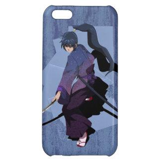 日本製アニメの武士-石板の青 iPhone5Cケース