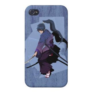日本製アニメの武士-石板の青 iPhone 4/4Sケース