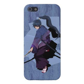 日本製アニメの武士-石板の青 iPhone SE/5/5sケース