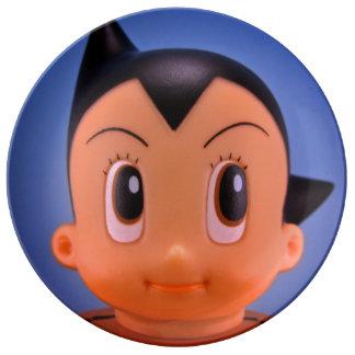 日本製アニメの男の子のプレート 磁器プレート