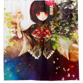 日本製アニメの精神のファンタジーの女の子のシャワー・カーテン シャワーカーテン