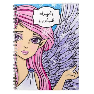 日本製アニメの雪の天使のPersonalizabelの芸術のプリント ノートブック