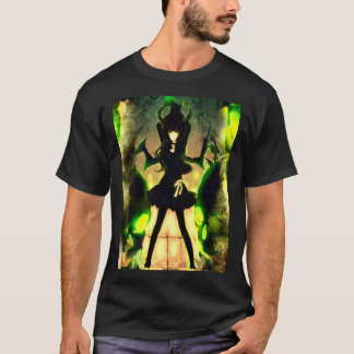 日本製アニメの鬼の女の子のエアブラシの芸術のグラフィックのティー Tシャツ