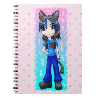 日本製アニメのcatgirlのノート ノートブック