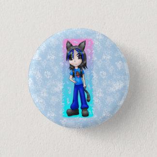 日本製アニメのcatgirlボタン 3.2cm 丸型バッジ