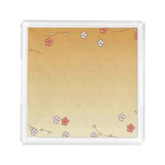 日本語によっては正方形のアクリルの皿が開花します アクリルトレー