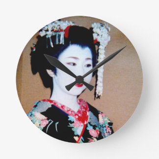日本語京都 ラウンド壁時計