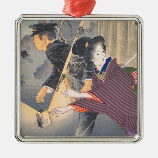 日本語、20世紀なHamada Josenの活動的な回転 メタルオーナメント