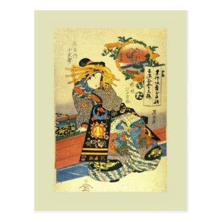 日本語Woodblock ポストカード